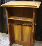 Antique Oak Wood church lectern in gothic style