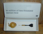 "Damien Hirst Dart and Onion titled "" and then there were four a famous musketeer"