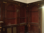 Original Antique Burr Mahogany Library by W. Turner Lord & Co.