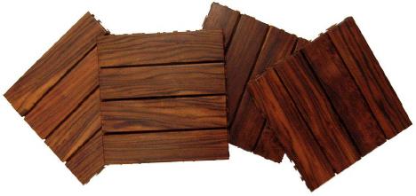 Solid Wooden Decking Tiles