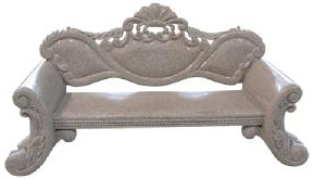 Hand carved stone Georgian Style Bench